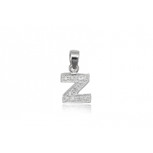 Colgante de plata con circonita Letra Z