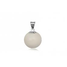Colgante esfera de Nácar con anilla de plata