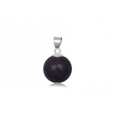 Colgante esfera de Aventurina azul con anilla de plata