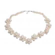 Collar de Perlas Naturales y Plata