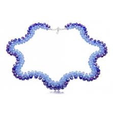 Collar de Cristal Preciosa Azul