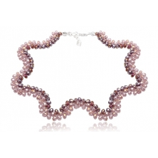 Collar de Cristal Preciosa Rosa