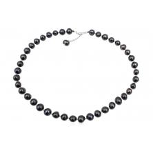 Collar de Perlas Naturales Negras Clasic