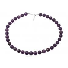Collar de Perlas de Amatista y Plata