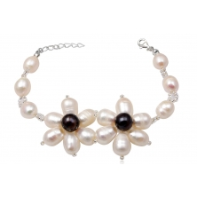 Pulsera de Perlas Naturales ( Flores)
