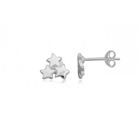 Pendientes de Plata lisa - Estrellas
