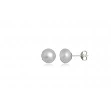 Pendientes de Plata y Perla Natural Blanca