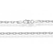 Cadena de Plata 50 cm (Cable Cuadrada)