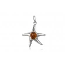 Colgante de Plata con Ámbar - Estrella