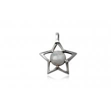 Colgante de Plata con Piedra de Luna - Estrella
