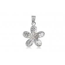 Colgante de Plata con Cristal Swarovski - Flor