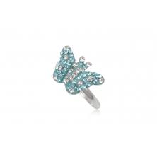 Anillo de Plata con Cristales Preciosa - Mariposa