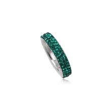 Anillo de Plata con Cristales Swarovski - Verde