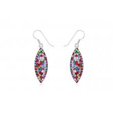 Pendientes de Plata y Cristales Preciosa - Varios colores