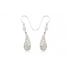 Pendientes de Plata y Cristales Preciosa - Lágrima