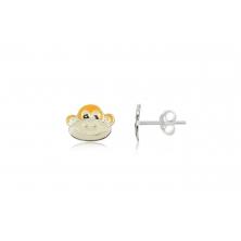 Pendientes de Plata para niñas - Mono