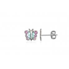 Pendientes de Plata para niñas - Mariposas