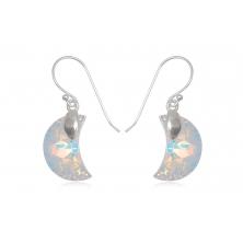 Pendientes de Plata y cristal Swarovsky (Luna de cristal)