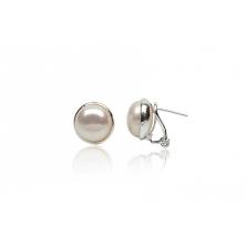 9ff325ec139e Pendientes de plata con perla